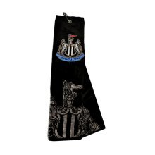 Newcastle United Tri-fold Golf Towel - Black/silver - Fc Trifold Football Black -  towel newcastle united fc golf trifold football black beach gym