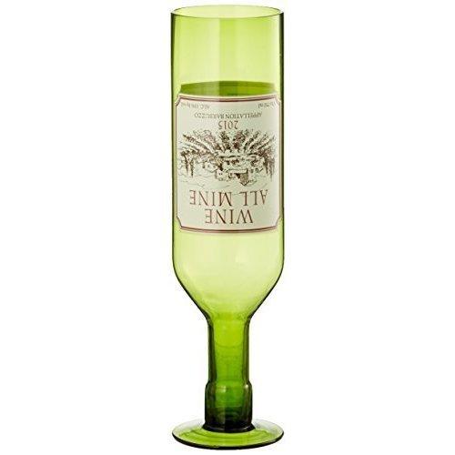Wine All Mine (glass) - Barbuz - Barbuzzo Bottle Glass Upside Down 750ml -  wine barbuzzo all mine bottle glass upside down 750ml