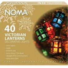 Noma Victorian Lanterns Multi Coloured Christmas Lights x 40 4611