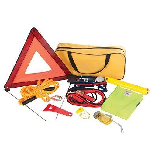 Silverline 933429 Car Emergency Kit - Set Of 9 - 9pce Breakdown -  emergency car kit silverline 933429 9pce breakdown set