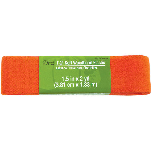 "Dritz Soft Waistband Woven Elastic 1-1/2""X2yd-Orange"