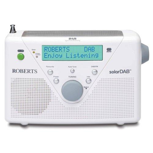 Roberts DAB / FM Digital Solar Radio - White