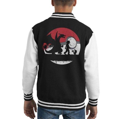 Forest Silhouette Pokemon Kid's Varsity Jacket