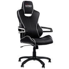 Nitro Concepts E200 Race Series Gaming Chair - Black/ White (NC-E200R-BW)