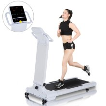 HOMCOM 2HP Foldable Motorized Treadmill 1-10Km/h Electric Running Machine 12 Programs LED Display Home Fitness Exercise Workout