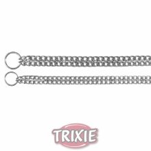 Trixie Chromed Double Row Choke Chain, 50cm x 2.5mm - Chain Dog Collar Chrome -  row chain double dog choke trixie collar chrome sizes