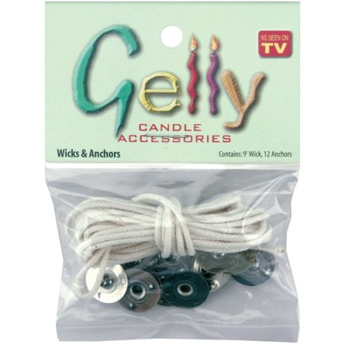 Gelly Candle Wick 9' & Anchors 12/Pkg-