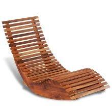 42652 vidaXL Rocking Sun Lounger Acacia Wood