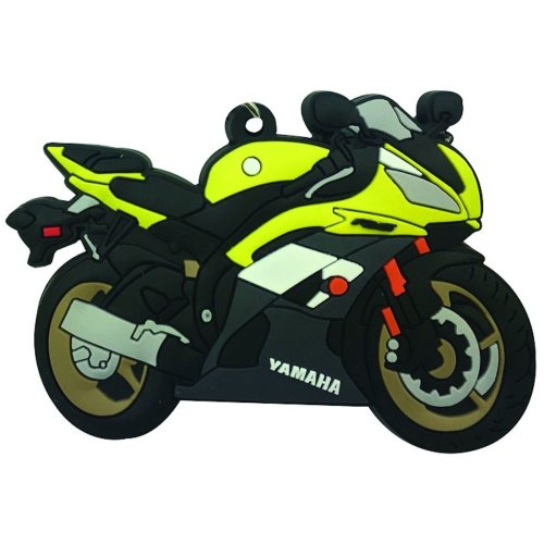 Yamaha YZF-R6 rubber key ring motorbike gift chain keyring yellow R6