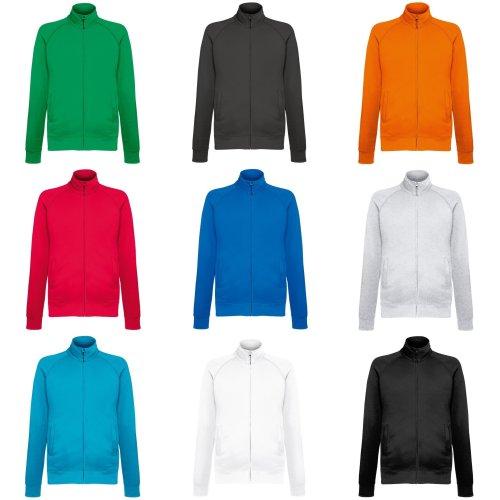 Fruit Of The Loom Mens Lightweight Full Zip Sweatshirt Jacket