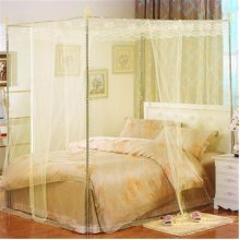 150X200cm Three-door Palace Mosquito Netting Bed Curtain Canopy Insect Bug Net Queen Size