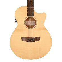 Faith FKV12 Naked Series Venus Concert 12-String Electro-Acoustic Guitar