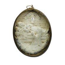 Antique Meerschaum 19th Century French Reliquary Pendant