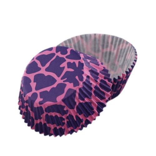 Set of 2 [Purple Leopard] Heat-Resistant Baking Cups/Cupcake&Muffin Cups(150Pcs)