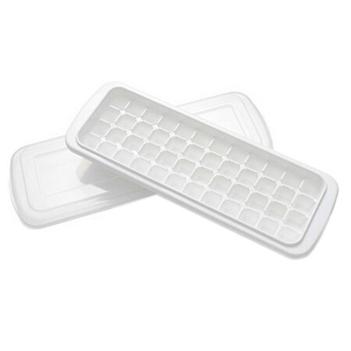 Set Of 2 Creative White Ice Cube Tray With Lid For Home/Bar Use, NO.2