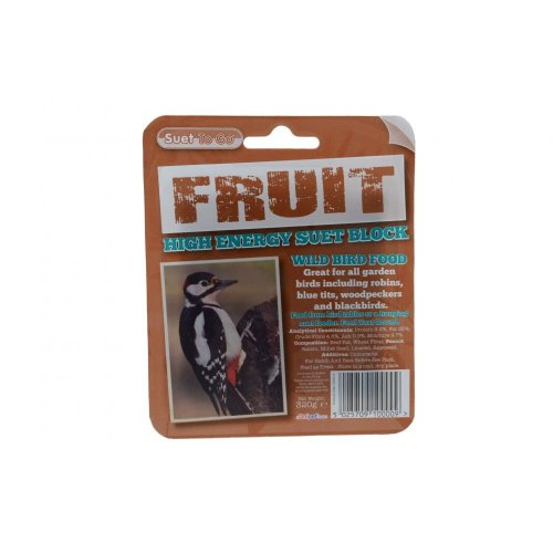 Suet To Go Fruit Block In Tray 6 pack