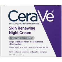 CeraVe Skin Renewing Night Cream 1.7 oz Facial Moisturizer with Niacinamide and Peptide Complex to Soften Skin