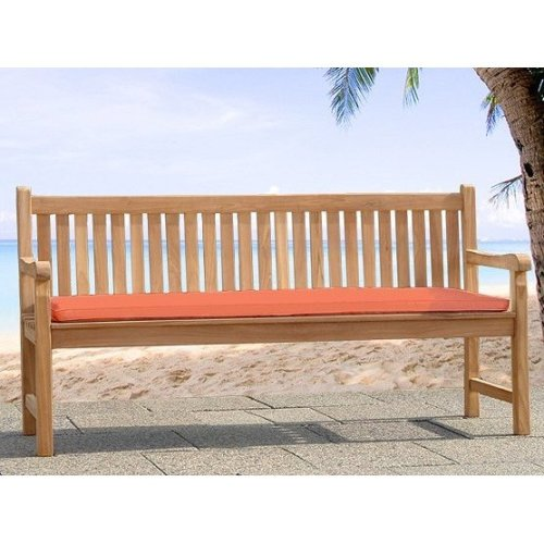 Comfortable cushion for a bench Toscana - sitting surface 160cm - terracotta