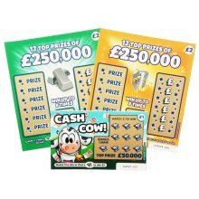 9 x fake joke lottery scratch cards