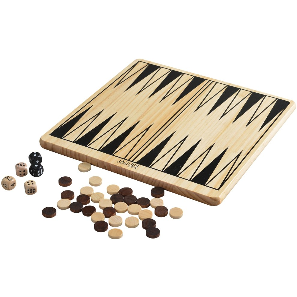 Backgammon Board - Wooden Luxury Backgammon Set With Playing Pieces -  Jaques of London - Since 1795