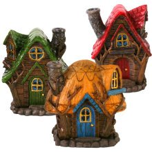 Fairy House Incense Burner 12cm High for Incense Cones Lisa Parker