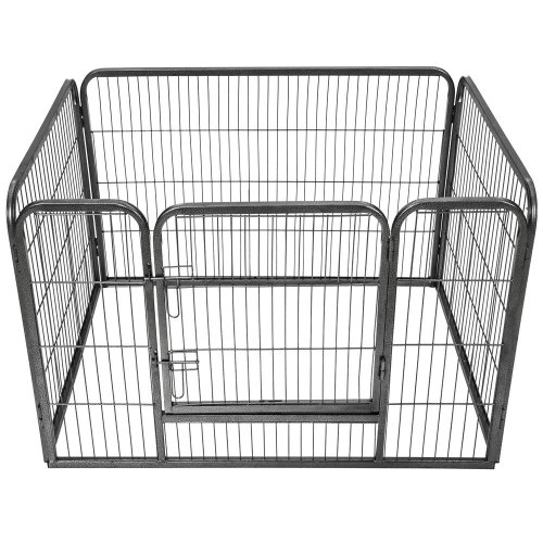 Puppy playpen 4 corners - grey