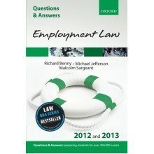 Q&a Employment Law 2012 and 2013 (questions & Answers) (law Questions & Answers)