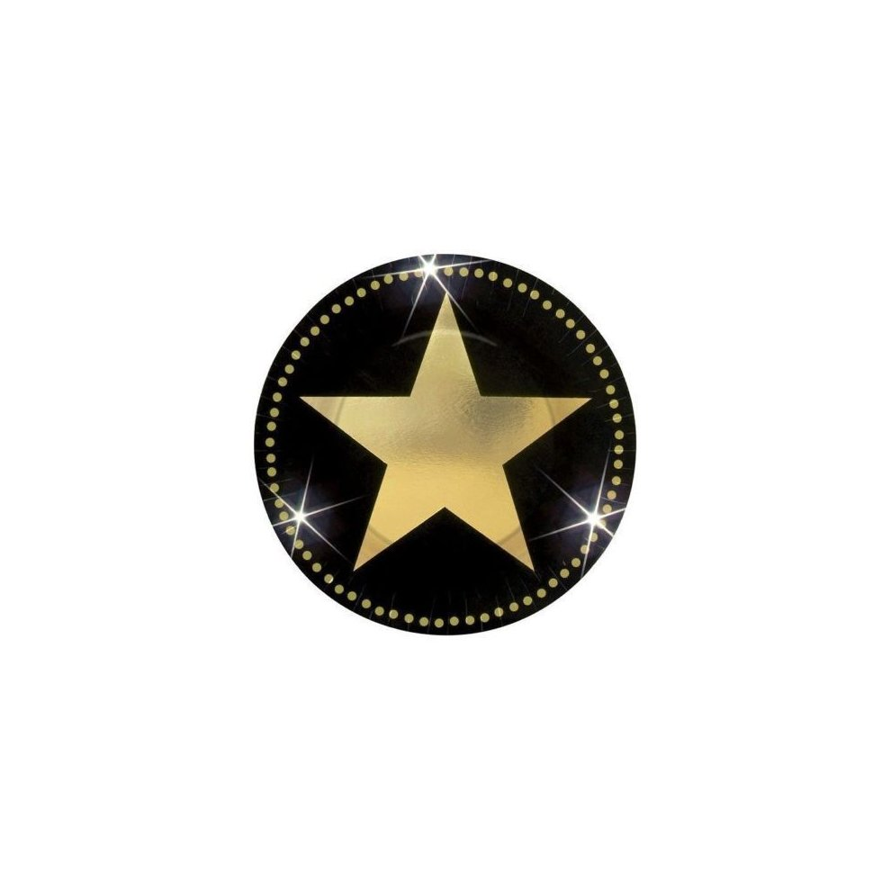 Pack of 8 Small Hollywood Movie Star Paper Plates Party Tableware