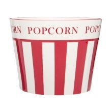 Hollywood Large Popcorn Bowl, Red & Cream