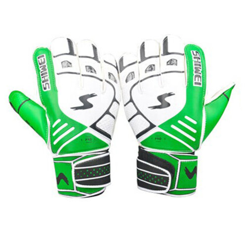 Cool Receiver Glove Latex Football Receiver Gloves for Adults, (White/Green, M)
