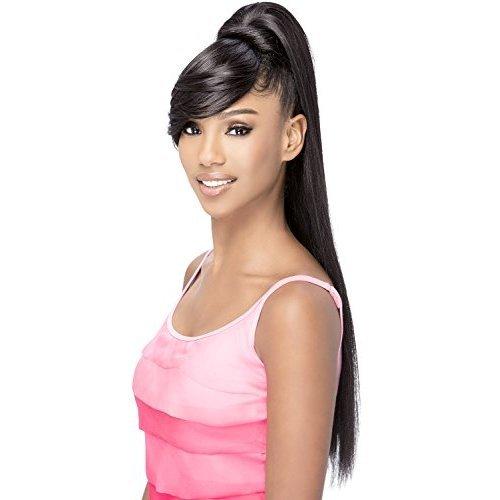 Vivica A Fox Hair Collection BPFendy Bang N Pony Yaki Texture New Futura Fiber, Color 1b, 6.8 Ounce
