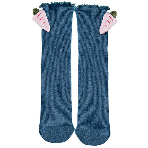 Baby Girl Stocking Knit Knee High Cotton Socks Princess Socks, Blue