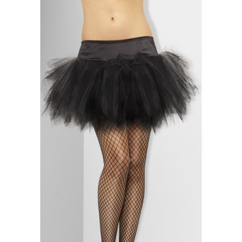 Smiffy's Tutu Frilly - Black -  black tutu frilly smiffys fancy dress ladies womens accessory petticoat