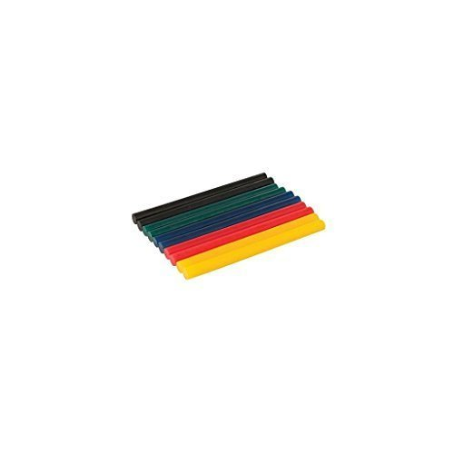 Silverline 476310 Coloured Mini Glue Sticks 10pk7.2 x 100mm - 72 10pk Pack -  silverline coloured mini glue sticks 72 x 100mm 476310 10pk pack