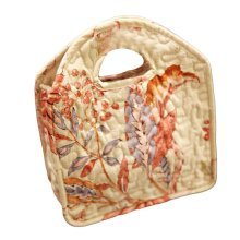Floral Lunch Tote Bag Cotton Picnic Bag Reusable Lunch Bag Open Carrier Bag