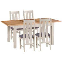 Portland Extending Dining Table & 4 Chair Set