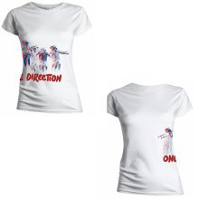 Large White Womens One Direction- Band Jump T Shirt