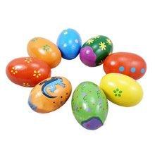 Set of 2 Lovely Baby Toys Sand Eggs Sound Toys Baby Rattles(Random pattern)