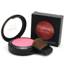 POPFEEL 3 In 1 Blusher Blush Powder With Brush Mirror Face Makeup Cosmetic Kit 6 Colors