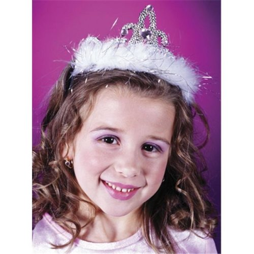 Costumes For All Occasions Fw8128Wtd Tiara Marabou White Diamond