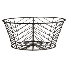 Vertex Fruit Basket Black Powder Coated Finish