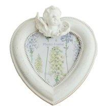 Heart-shaped Frames/White Resin Photo/Album Frame/ Nursery Picture Frames