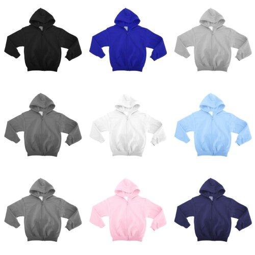 Gildan Heavy Blend Unisex Childrens Full Zip Hooded Sweatshirt / Hoodie