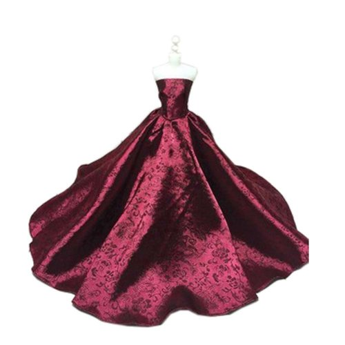 High-end Handmade Wedding Costume Luxurious Party Gown Dresses Princess Clothes for Dolls, Z