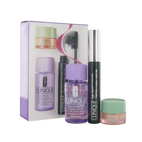 Clinique High Impact Set - High Impact Mascara 7ml, All About Eyes 5ml and Take the Day Off Make-up Remover 30ml