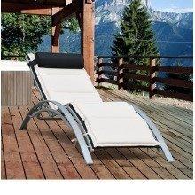 Outsunny Garden Outdoor Sun Lounger with Cushion