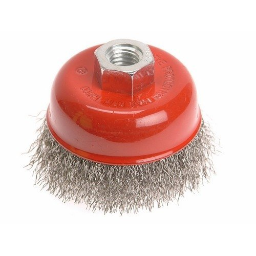 Faithfull FAIWBC80S Wire Cup Brush 80mm x M14 x 2 Stainless Steel 0.30mm