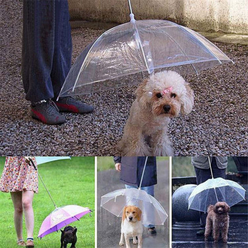 Umbrella Raincoat for Dog Pet Raincoats Rain Weather Protective