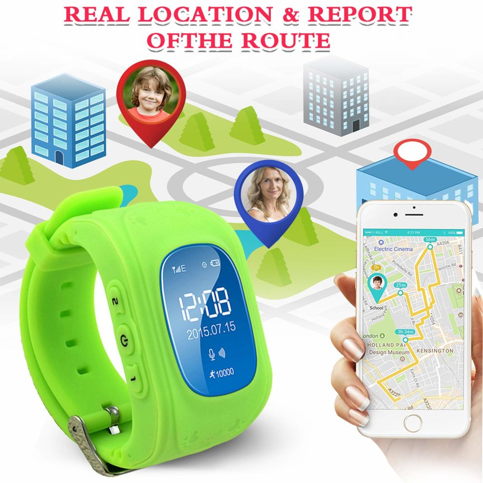 af5f6f4e4 ... TURNMEON Smart Watch Phone for Kids Boys Girls GPS Children Fitness Tracker  Smartwatch Holiday Christmas Birthday ...