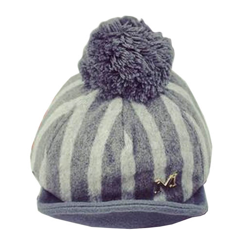 [Stripe Gray] Stylish Baby Woolen Cap Winter Baseball Cap for Kids